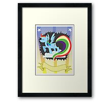 CMC Clubhouse - Rainbow Dash Poster Framed Print