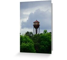 Old Rusty Water tower Greeting Card