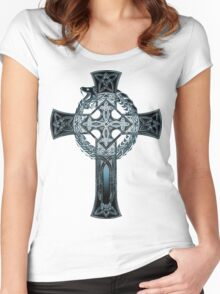 Crossed Ouroboros v.2 Women's Fitted Scoop T-Shirt