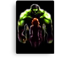 MARVEL - Black Widow and Hulk Romance Canvas Print