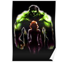 MARVEL - Black Widow and Hulk Romance Poster