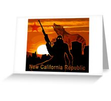 New California Republic  Greeting Card