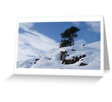 Winter dusted mountain Greeting Card