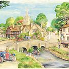 Old English Village by morgansartworld