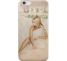 Airbrush Portrait - Louise Redknapp iPhone Case/Skin
