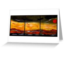Mountain Fire - Black Saturday Greeting Card