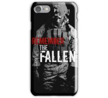 Remember the Fallen (RED) iPhone Case/Skin