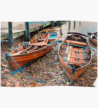Two Rowing Boats Poster