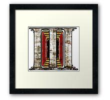 Three-Colour Framed Print