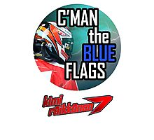 Kimi Raikkonen - Blue Flags Photographic Print