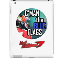 Kimi Raikkonen - Blue Flags iPad Case/Skin
