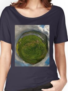 Teelin Bay from Roxborough fort, S. Donegal Women's Relaxed Fit T-Shirt