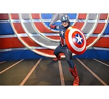 Disney Captain America Marvel Disney Comic Book Photographic Print