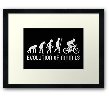MAMIL Middle Aged Man In Lycra Evolution Shirt Framed Print
