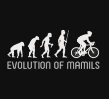 MAMIL Middle Aged Man In Lycra Evolution Shirt by movieshirtguy