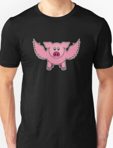 "Bobby the pig says: ""every cloud..."" T-Shirt"