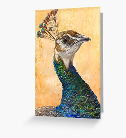 Peahen Greeting Card