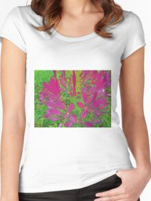 Pink Ground Cover Women's Fitted Scoop T-Shirt