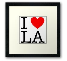 Everyone Loves LA Framed Print
