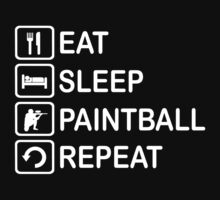 Eat Sleep Paintball Repeat Funny Shirt by movieshirtguy