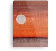 Moon over Mojave original painting Metal Print