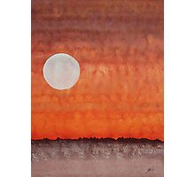 Moon over Mojave original painting Photographic Print