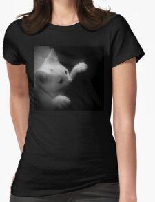 Peekin` The Boo Womens Fitted T-Shirt