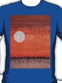Moon over Mojave original painting T-Shirt