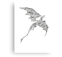Smaug - Lonely Mountain Song Canvas Print