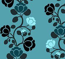 Rosebud Wallpaper by Charlotte Harold