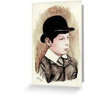 Churchill the schoolboy Greeting Card