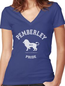 Pemberley Pride - Team Darcy - Pride and Prejudice Women's Fitted V-Neck T-Shirt