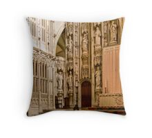 The High Altar, St Albans Cathedral Throw Pillow