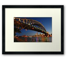 Seeing Red - The Sydney Opera House Framed Print