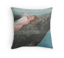 Catching a Ride Throw Pillow