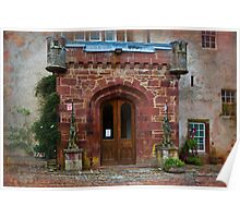 Delgatie Castle from the Back (near Turriff, in Aberdeenshire, Scotland) Poster