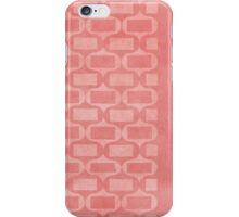 Garden Charm III:  Funky Geometric in Shabby Rose Pink iPhone Case/Skin
