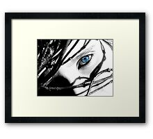 A Touch of Blue Framed Print