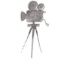 Cinema Camera Watercolor Photographic Print