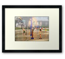 Fun under the Water Fountains Framed Print