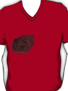 Dark Rose on right breast T-Shirt T-Shirt