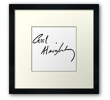 Girl Almighty- Louis Tomlinson Framed Print