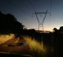 Night Driving on Stringer Track by Sandra Wilson