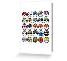 POKEBALLS Greeting Card