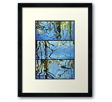 Pond Life - Triptych Framed Print