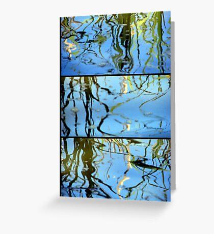 Pond Life - Triptych Greeting Card