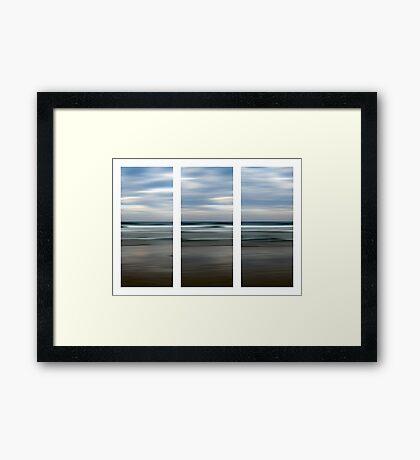 Rainbow Beach at Dusk Framed Print