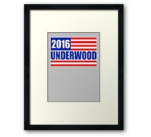Underwood 2016 - Show Your Support Framed Print