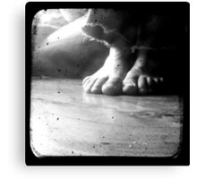 His Feet Canvas Print