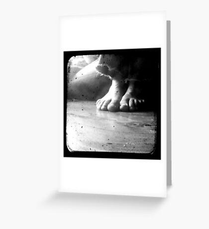 His Feet Greeting Card